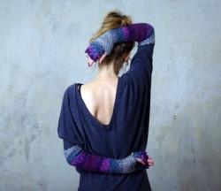 把波浪握在手心 看我龙鳞手套让冬天保暖又清爽