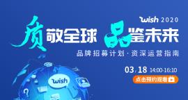 """Wish2020""""质""""敬全球 ,""""品""""鉴未来 -品牌招募计划,资深运营指南(无回放)"""