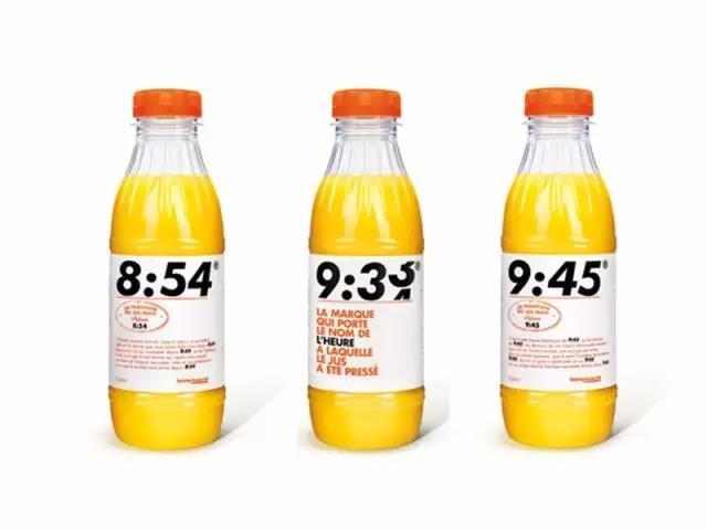 """强!把时间加粗放大居中   法国""""时间橙汁""""3小时曝光5000万次~"""