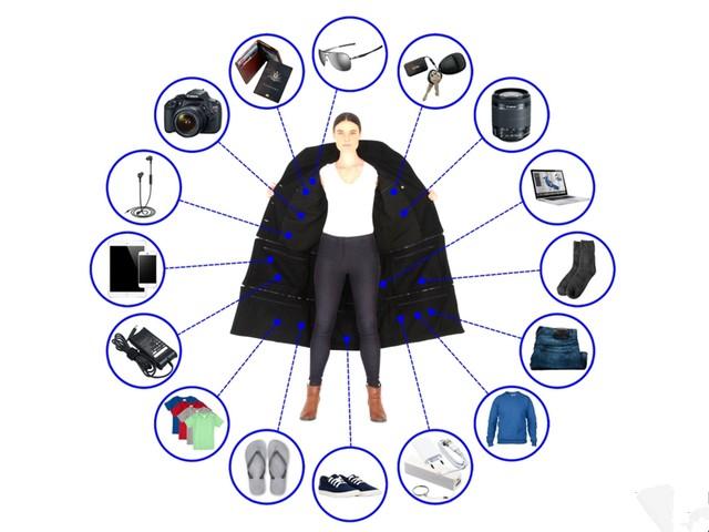 14个兜能装30斤物品 这件夹克让行李无需托运