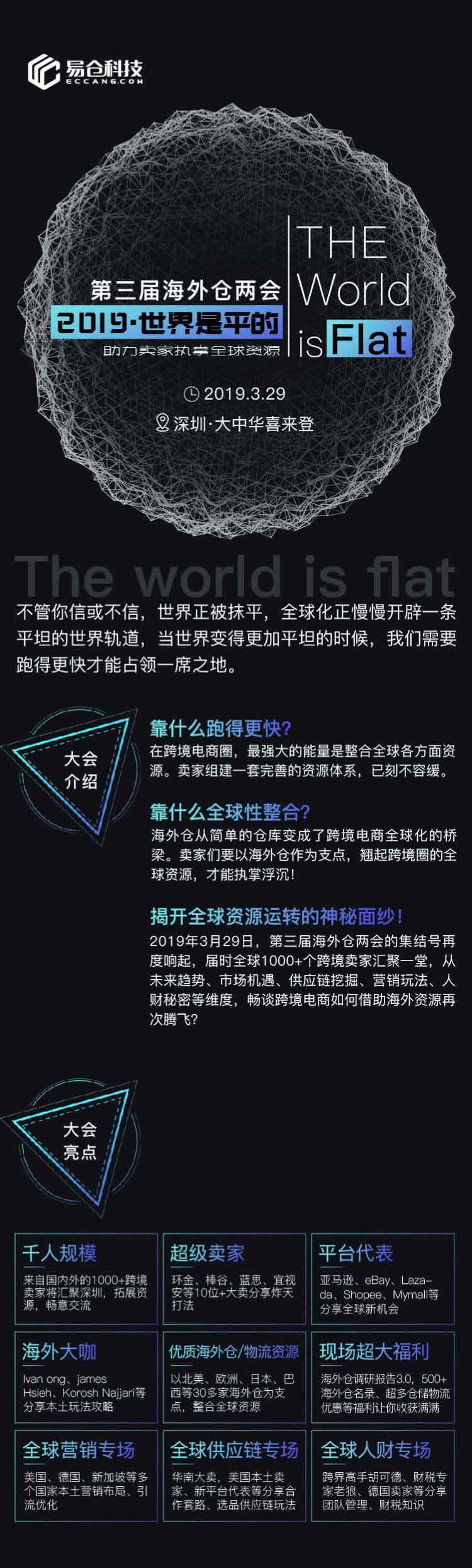活动邀请丨第三届海外仓两会——2019·世界是平的